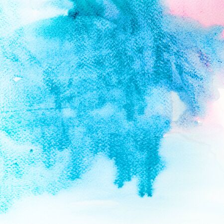 yellow paint: Abstract watercolors in pink and blue Stock Photo