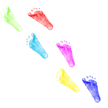 foots: child foots prints Stock Photo