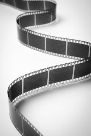 photo strip: black and white film