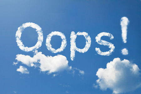 oops: oops! cloud  Stock Photo