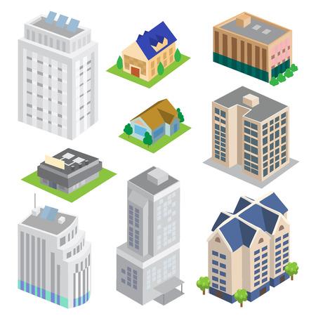 midtown: Isometric Building Vector set