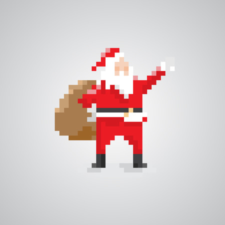 Santa claus 8bit pixel style.