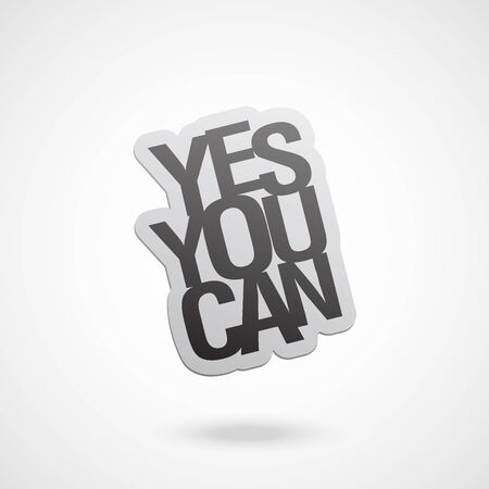 yes you can word vector illustration Illustration