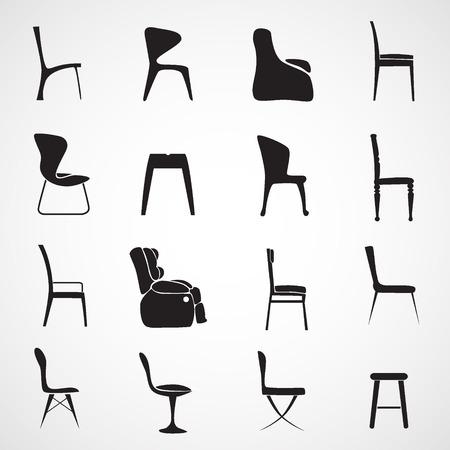 cadeira: Cadeira silhueta vectoc Ilustração
