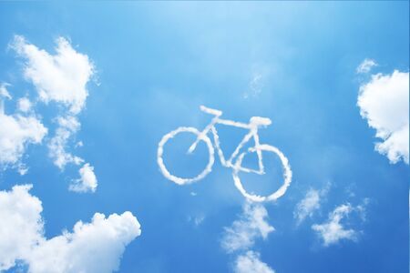 cycler: Clouds shaped like a bicycle.