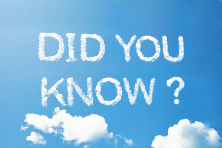 did you know: Did you know a cloud word on sky