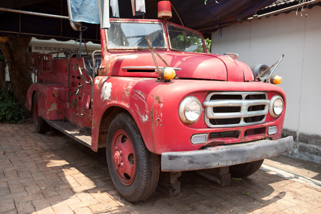antique fire truck: Vintage fire truck