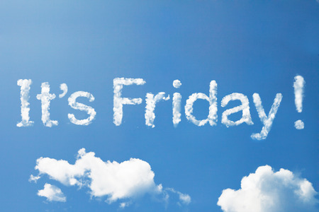 its: Its friday cloud word on sky Stock Photo