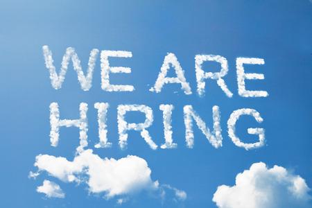 We are hiring cloud word on sky