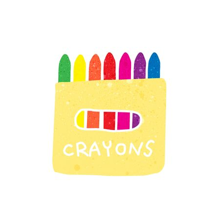 crayon: crayons with texture vector illustration.