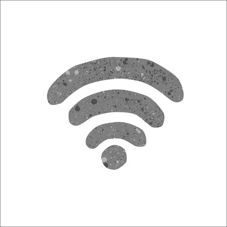 wi fi icon: Vector wi fi icon with egg texture.