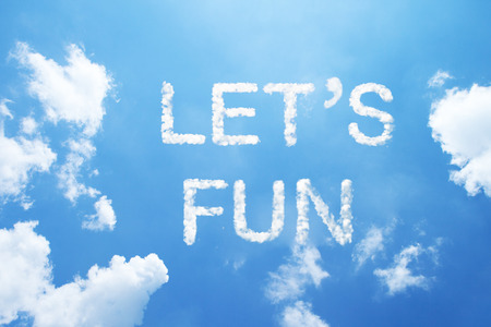 lets: lets funcloud word. Stock Photo