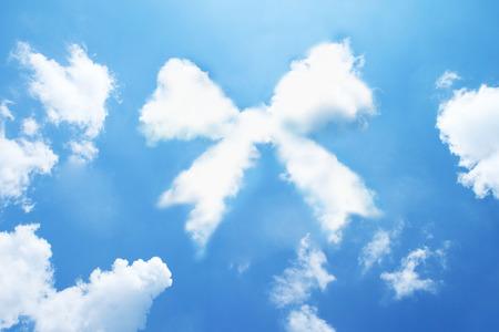 ribbin: Ribbon cloud shape form on sky. Stock Photo