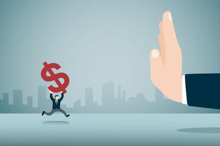 detener la corrupción Ilustración de vector