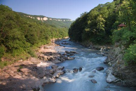 Belaya river. Caucasus. Adygei. Russia Stock Photo - 4619385