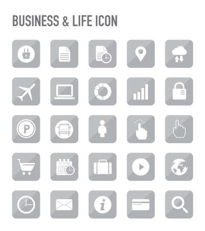 credit card business woman: business and life icons Illustration