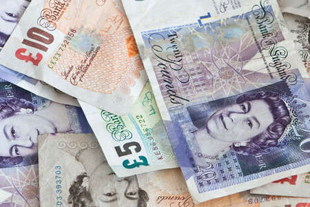 pound sterling: English bank-notes Stock Photo
