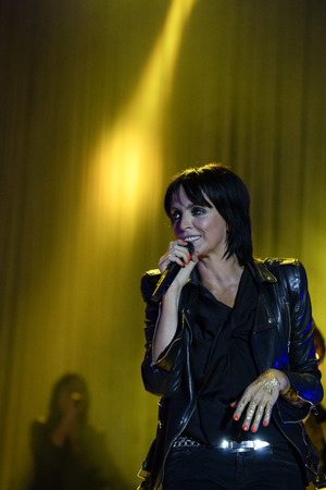 Nena, open air concert at city park in Hamburg, germany, 06.09.2014 Editorial