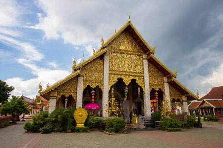 june 25: LAMPHUN , THAILAND -JUNE 25 2014: Wat Phra That Hariphunchai, Lamphun Province, Thailand.