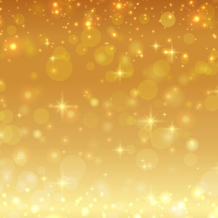 shiny background: Gold shiny glitter christmas background Illustration