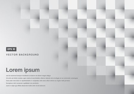 grey pattern: Abstract grey square pattern  copy space vector