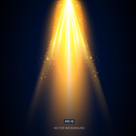 Das goldene Licht leuchtet von der Bühne.