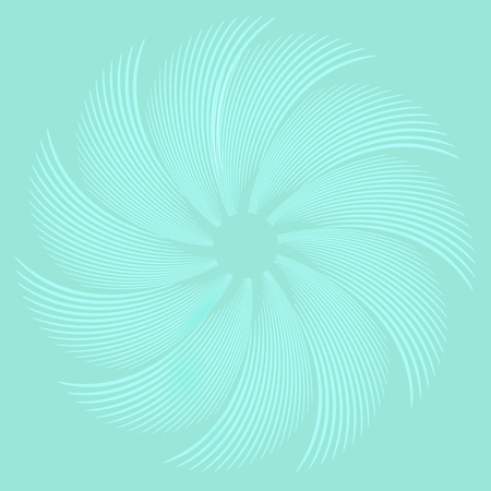 Vector Illustration of Feather White circle abstract green pastels background