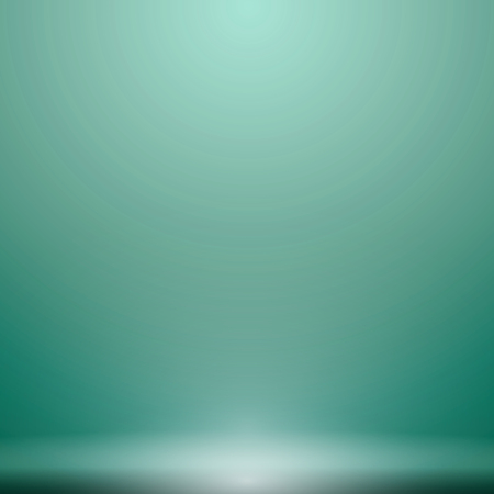 Abstract luxury green gradient with lighting background Studio backdrop, well use as black backdrop, Vector Illustration.