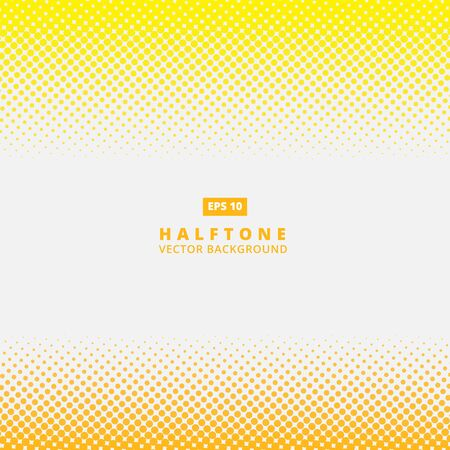 Abstract yellow dotted line vector halftone effect background with copy space Illustration