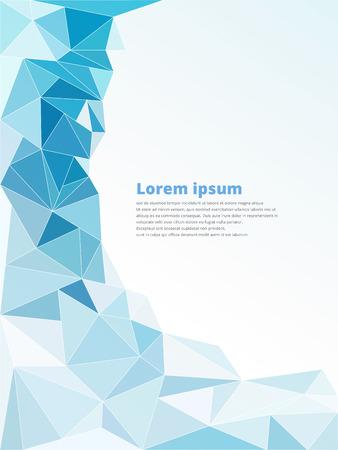 sort: Light blue polygonal mosaic background vector illustration with copy space Illustration