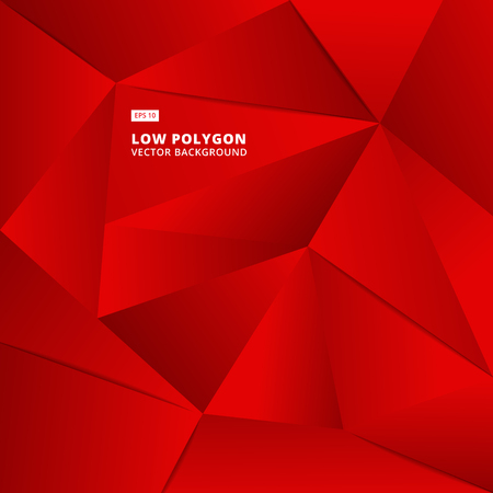 Abstract red geometric polygonal background for design