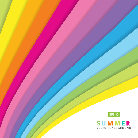 streaked: Summer colorful striped curve line pattern vector background Illustration