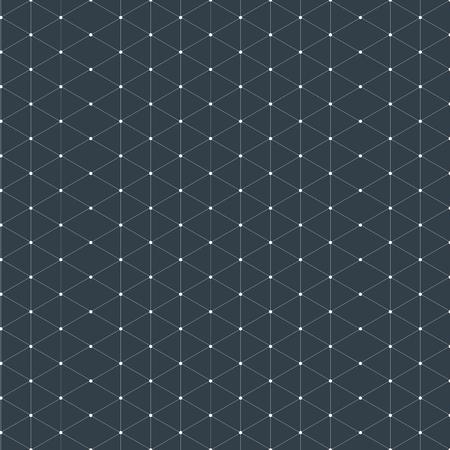 Moderne stilvolle isometrische Muster Textur, dreidimensionale Rechteck, Wiederholen geometrischen Hintergrund mit Raute Kreise verschieden, Vektor-Illustration
