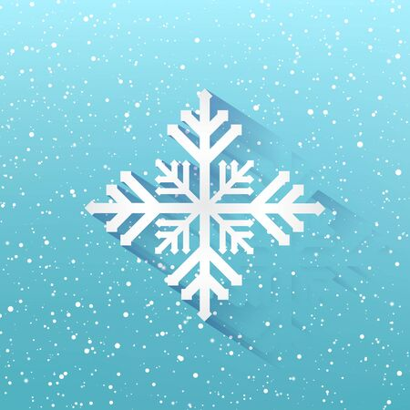 Blue winter christmas background, Snowflakes on blue background, Xmas, New year, Vector illustration