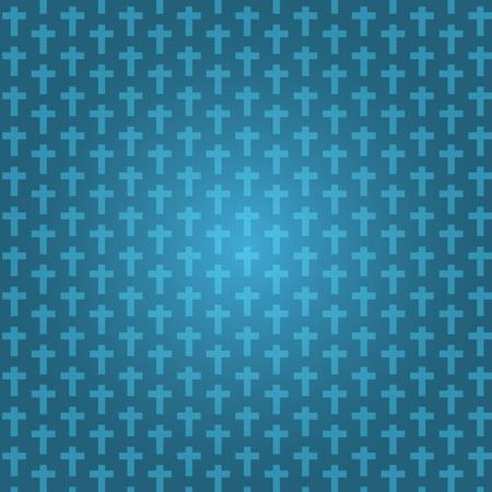 achtergrond donkerblauwe kleur halloween met kruisbeeld patroon textuur, vectorillustratie