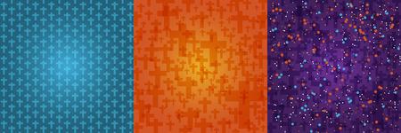 Achtergrond donker oranje, blauw, paars kleur instellen Halloween met crucifix patroon textuur.