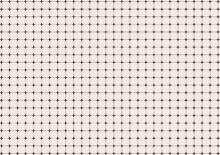 幾何学的な交差またはプラス線グリッド パターンの背景やテクスチャ、抽象的なベクトル イラスト