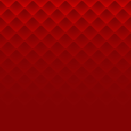 Red square luxury pattern sofa texture background vector Illustration