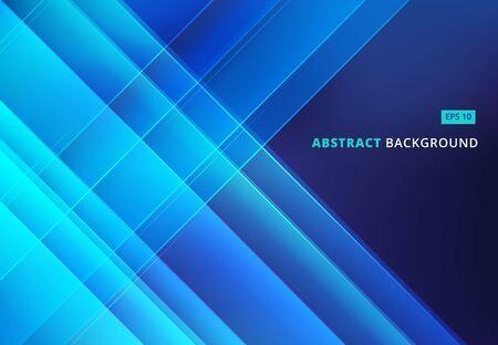 Imagen azul abstracta con líneas diagonales superpuestas Ilustración de vector