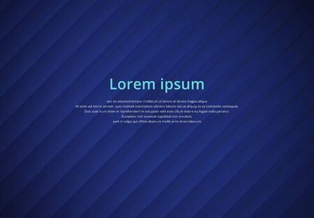 override: Blue striped background paper overlap, vector illustration