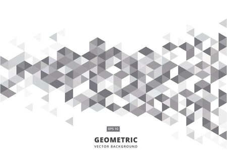 Abstract gray geometric background with polygonal triangles, cube pattern.Template design with color triangle for brochure, leaflet, flyer design. Vector Illuatration  イラスト・ベクター素材