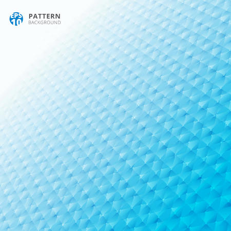 Abstract grid geometric pattern 3d perspective blue color background. Vector illustration