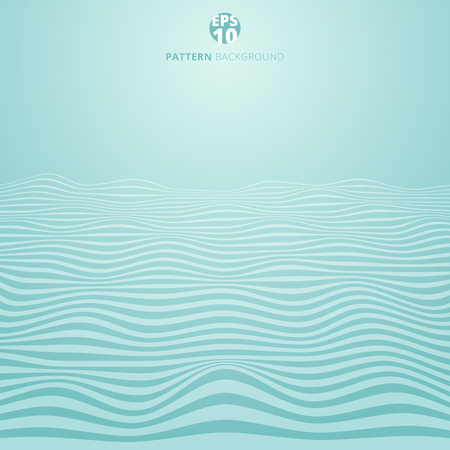 Abstract lines wave on blue background, Wavy stripes pattern, Rough surface, Vector Illustration