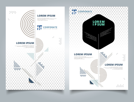 Brochure layout design template, Annual report, Leaflet, Advertising, poster, Magazine, Business for background, Empty copy space, Geometric shape lines pattern, vector illustration artwork A4 size.