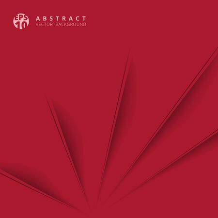 Abstract diagonal paper cut with shade red background, Vector Illustration  Illustration