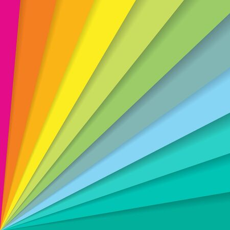 Abstract colorful striped diagonal lines pattern element speed motion on white background with copy space. 일러스트