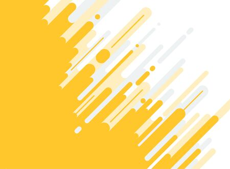Abstract yellow and gray Rounded Lines dialognal Halftone Transition Background. Vector Illustration