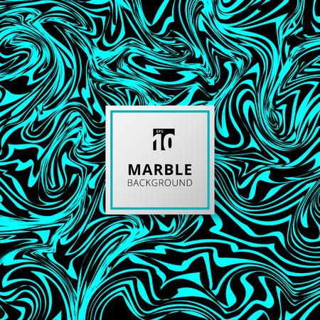 Manchas abstractas de acuarela azul y negra. Textura de fondo de mármol. Ilustración vectorial