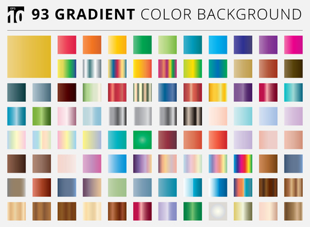 Set of 93 square gradient color backgrounds. Vector illustration. You can use for your websites, blogs, banners, posters, for prints on clothes and other things, packaging etc.
