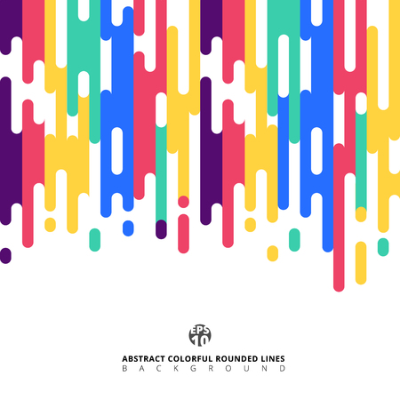 Abstract colorful Rounded Lines Halftone Transition. Vector Background Illustration 免版税图像 - 112129196